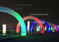 Brand 7 * 4 M Night Events Arch Inflatable Event Structures Lighting Color Customized