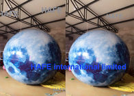 Hanging LED Lights Inflatable Advertising Balloon Inflatable Moon Ball Globe 1.8M Diameter