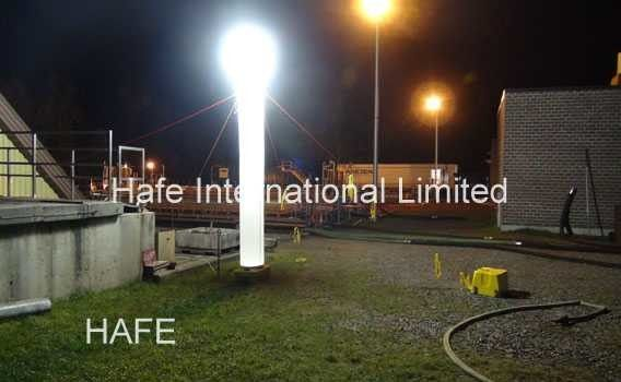 Single 1000 W HMI Lamp LED Powered Light Tower Emergency Rescue / Forensics Used