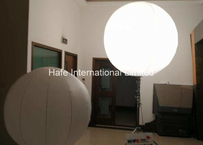 Crystal Inflatable Balloon Light , Floating Standing Halogen Suspended Led Balloon