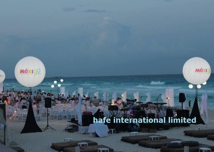 Events Decoration Led Balloon Lights 2000W Dimmable Halogen Warmly White Illuminate From Within